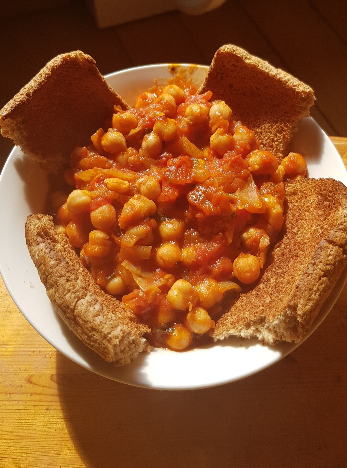 Chickpeas and Chopped tomatoesSoup